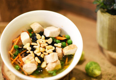 Hot bowl with tofu